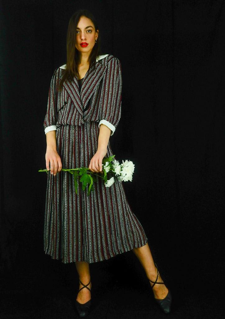 Stripes-vintage-pleated-dress-spring2019-2
