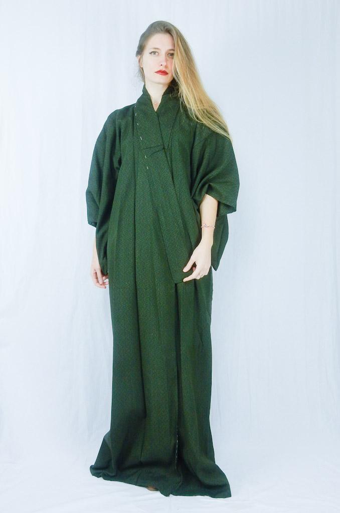 vintage-green-stripes-kimono-1