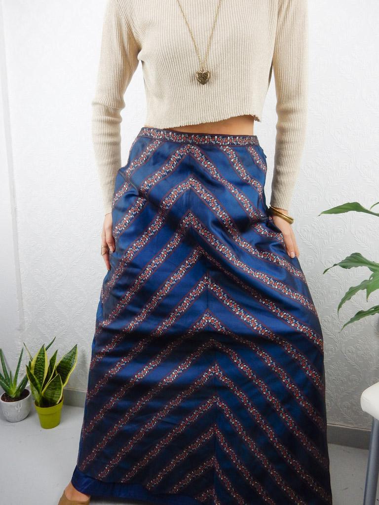 long-skirt-blue-flower-stripes-4