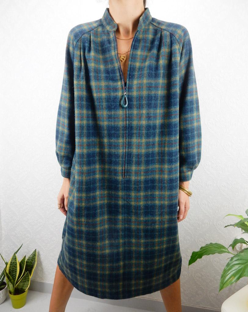 vintage-wool-plaid-dress-free-size-13
