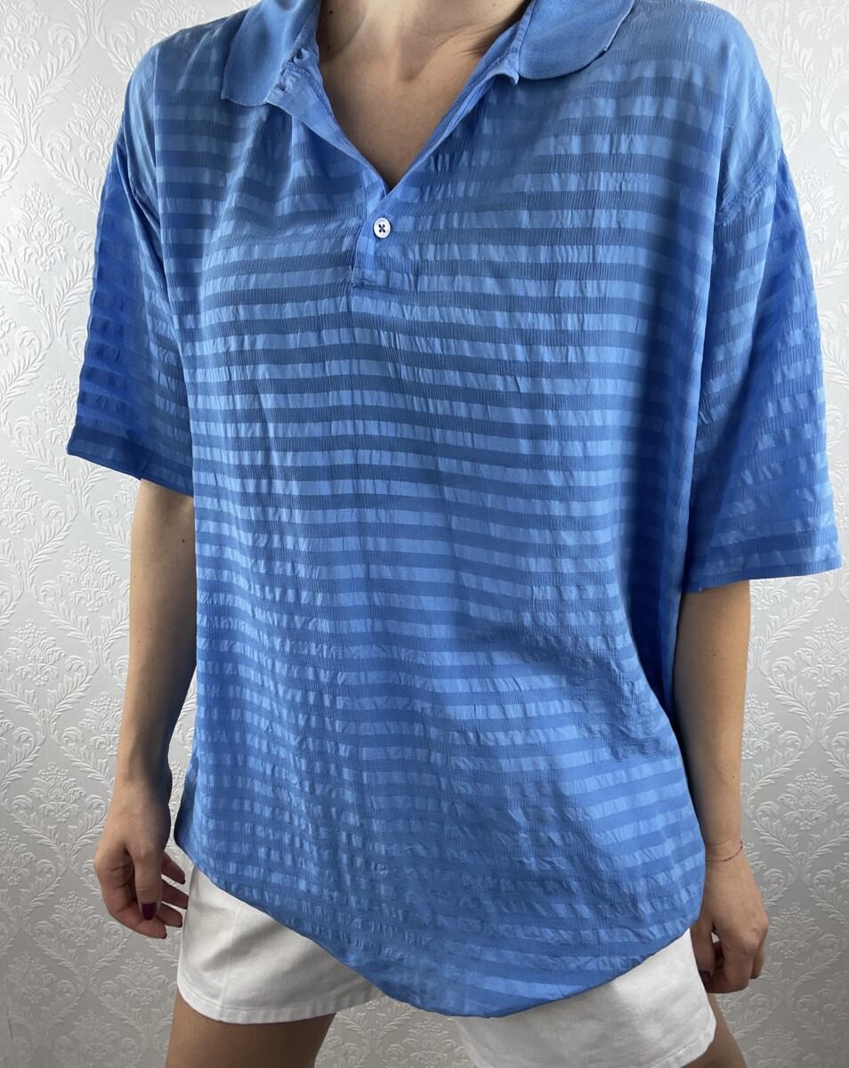 Blue-silk-polo-tshirts-vintage-3