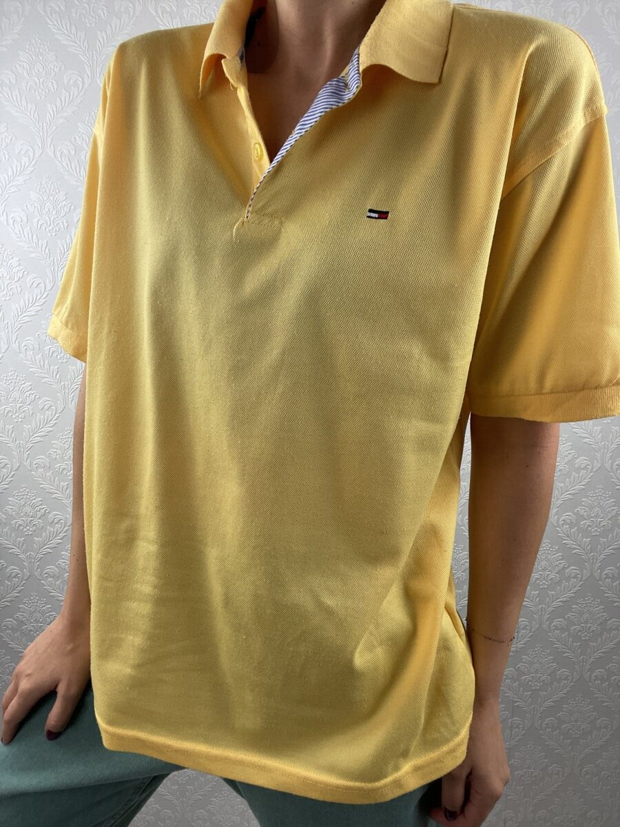 Bright-yellow-Tommy-polo-shirt-vintage-1
