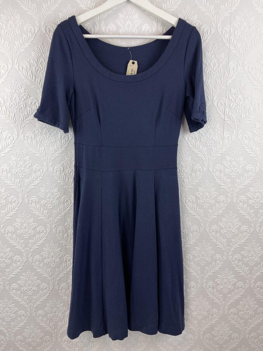 cotton-elastic-navy-blue-dress-1